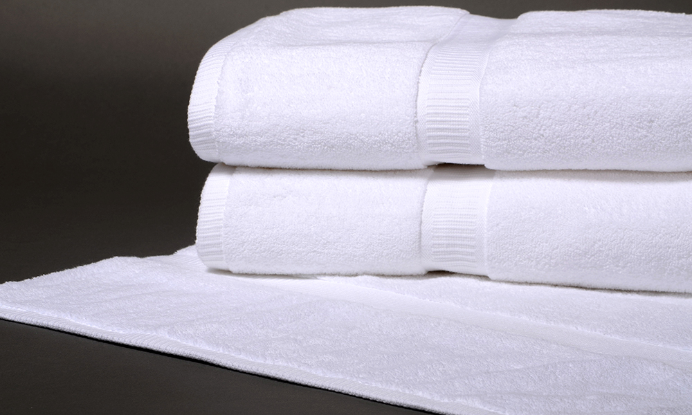 Denali luxury dobby border towels