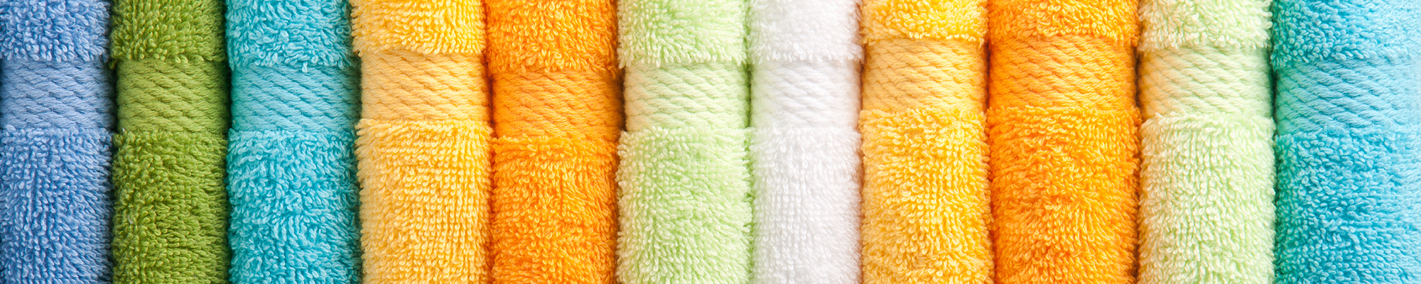 colorful towels textile products